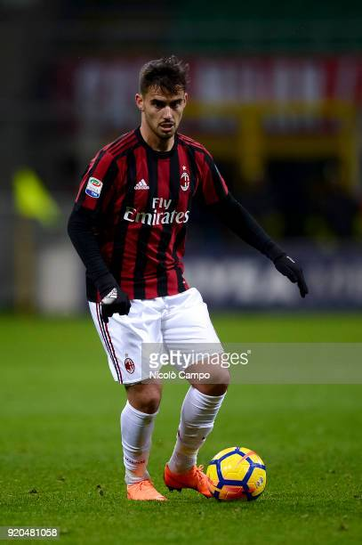 Suso of AC Milan in action during the Serie A football match between AC Milan and UC Sampdoria AC Milan won 10 over UC Sampdoria