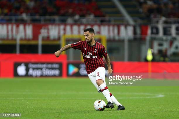 Suso of Ac Milan in action during the Serie A match between Ac Milan and Acf Fiorentina Acf Fiorentina wins 31 over Ac Milan