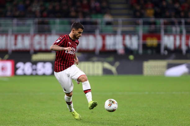 Suso of Ac Milan in action during the the Serie A match...
