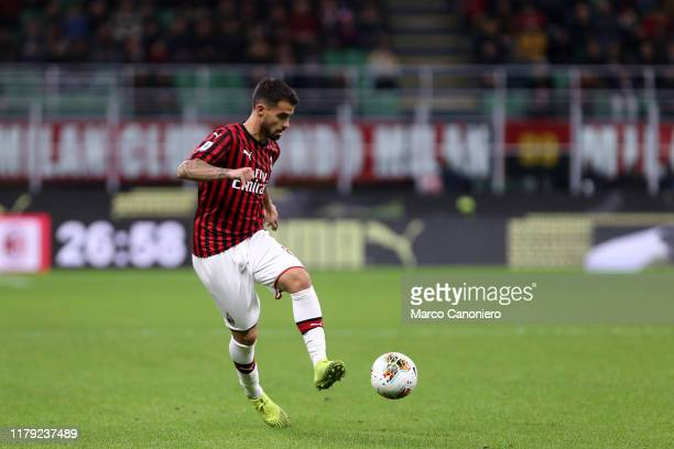 Suso of Ac Milan in action during the the Serie A match between Ac Milan and Spal Ac Milan wins 10 over Spal