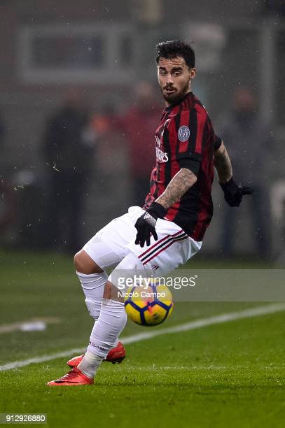 Suso of AC Milan in action during the TIM Cup football match between AC Milan and SS Lazio The match ended in a 00 tie