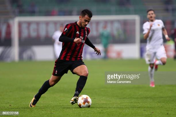 Suso of Ac Milan in action during the UEFA Europa League group D football match between AC Milan and AEK Athens