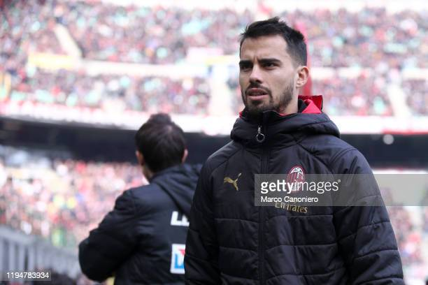 Suso of Ac Milan looks on before the Serie A match between Ac Milan and Udinese Calcio Ac Milan wins 32 over Udinese Calcio