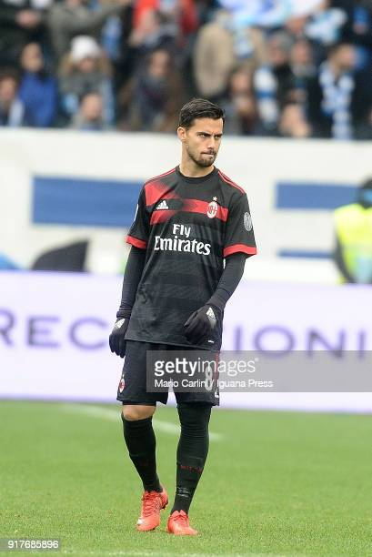 Suso of AC Milan looks on during the serie A match between Spal and AC Milan at Stadio Paolo Mazza on February 10 2018 in Ferrara Italy