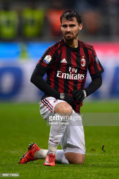 Suso of AC Milan looks on during the TIM Cup football match between AC Milan and FC Internazionale AC Milan won 10 over FC Internazionale after extra...