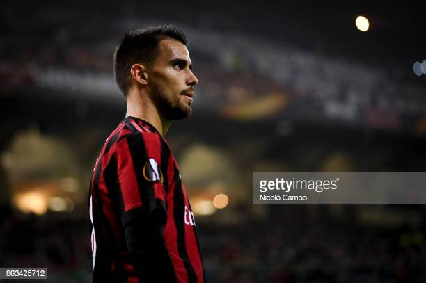 Suso of AC Milan looks on during the UEFA Europa League football match between AC Milan and AEK Athens The match ended in a 00 draw