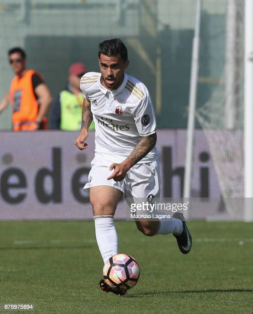 Suso of Milan during the Serie A match between FC Crotone and AC Milan at Stadio Comunale Ezio Scida on April 30 2017 in Crotone Italy