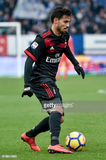 Suso of Milan during the Serie A match between SPAL and AC Milan at Paolo Mazza Stadium Ferrara Italy on 10 February 2018