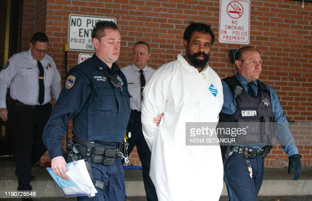 Suspect in Hanukkah celebration stabbings Thomas Grafton 37 years old from Greenwood Lake leaves the Ramapo Town Hall in Airmont New York after being...