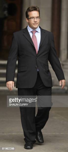 Suspect in the disappearance of Madeleine McCann Robert Murat is pictured outside the High Court in central London on July 17 2008 A suspect in the...