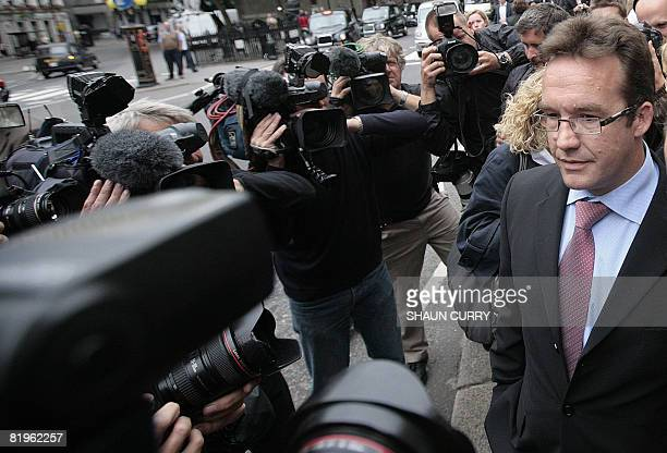 Suspect in the disappearance of Madeleine McCann Robert Murat speaks to the press outside the High Court in central London on July 17 2008 A suspect...