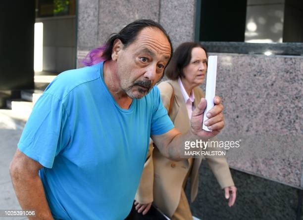 Suspect Robert Chain is leaving the Los Angeles courthouse after being released on bail on August 30, 2018. His wife, attorney Betsy Staszek Chain,...