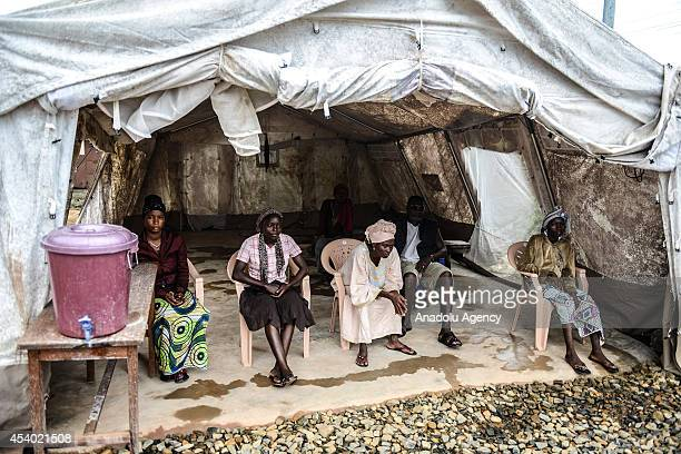 Suspected Ebola patients are seen at Kenema governmental hospital suspected patients go to Red Cross tent if they have any symptoms of Ebola like...