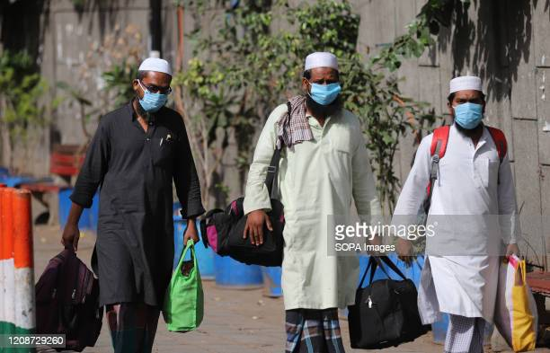 Suspected patients of the COVID19 coronavirus wearing face masks as a preventive measure during the cordon and quarantine process Police has cordoned...