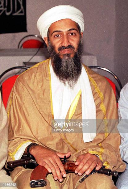 Suspected terrorist Osama binLadens is seen in this undate photo in Afghanistan A Pakistani foreign ministry spokesman said October 4 2001 that it...