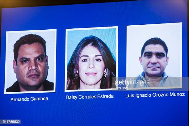 Suspects on the run in Mexico Press conference at the LA Federal Building to announce a multigovernment and law enforcement agency sweep of downtown...