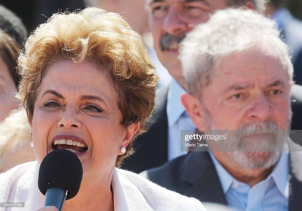Brazil's Senate Votes To Begin Impeachment Trial Of President Dilma Rousseff : News Photo