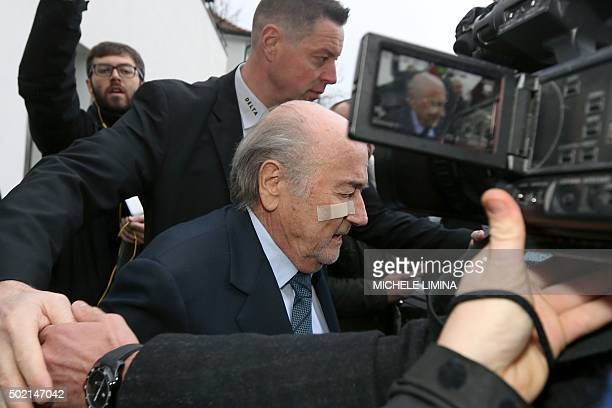 Suspended FIFA president Sepp Blatter leaves after a press conference on December 21 2015 in Zurich An ethics tribunal of scandalplagued FIFA today...