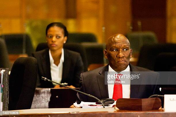 Suspended National Police Commissioner General Bheki Cele and his wife Thembeka Ngcobo at the Board of Inquiry's probe into allegations of misconduct...
