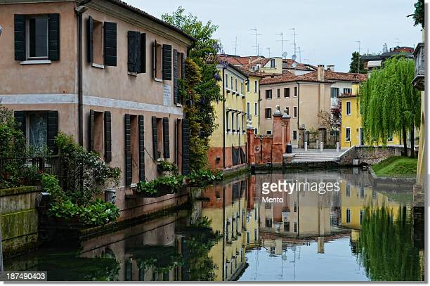 suspended on the water. - treviso italy stock pictures, royalty-free photos & images