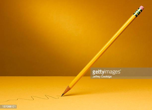 Suspended Pencil with Squiggle