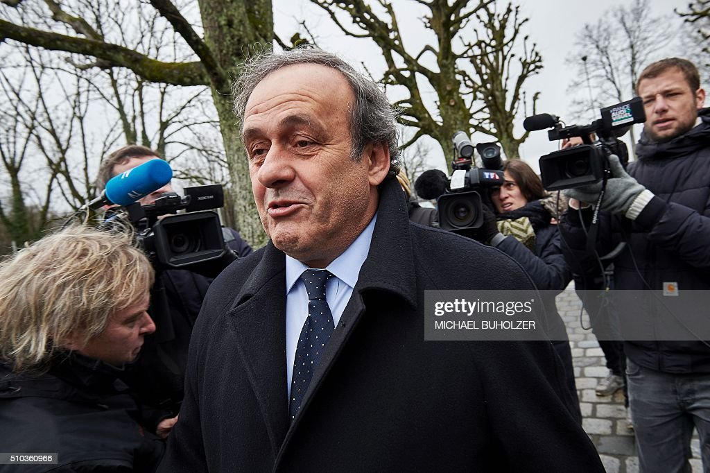 FBL-CORRUPTION-PLATINI-FIFA : News Photo