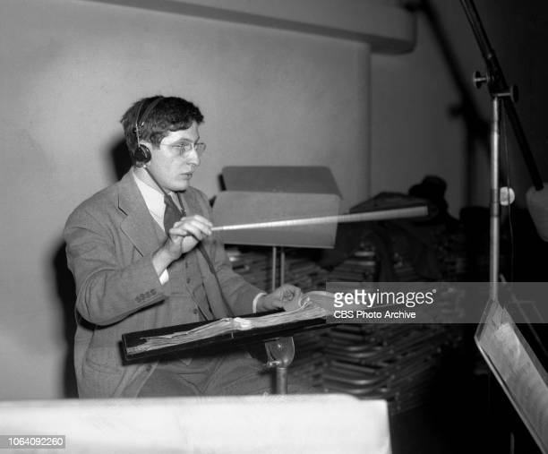 Suspense a CBS Radio crime drama series The broadcast presentation of The Pit and The Pendulum January 12 1943 New York NY Pictured is Bernard...