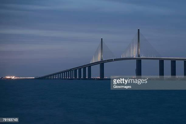 Suspension bridge across the sea, Sunshine Skyway Bridge, St. Petersburg, Florida, USA