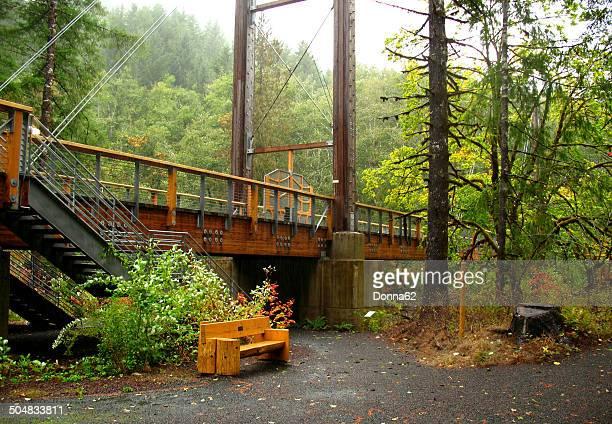 Suspension Bridge at the Tillamook Forest Center