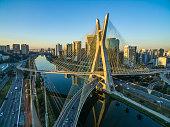 Suspension bridge. Cable-stayed bridge in the world.