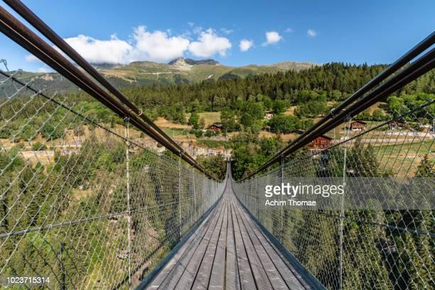 Suspension Bridge, Goms, Switzerland, Europe