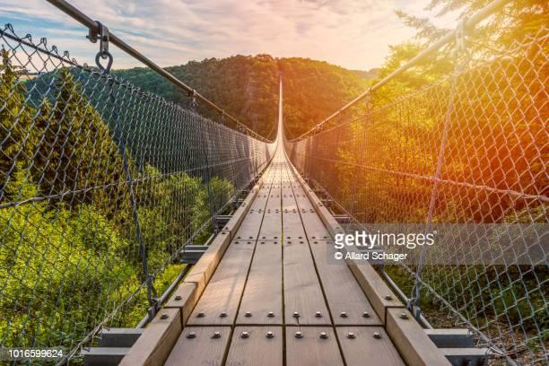 suspension bridge in mörsdorf germany - ラインラント=プファルツ州 ストックフォトと画像