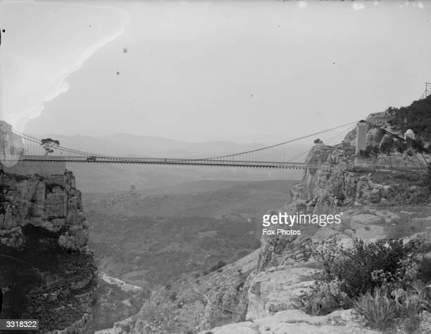 A suspension bridge near the ancient town of Constantine in northeast Algeria