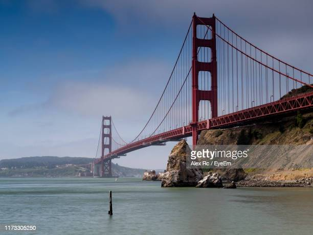 suspension bridge over sea - rc car stock photos and pictures