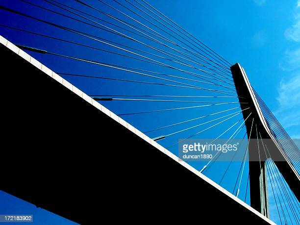 suspension bridge - suspension bridge stock photos and pictures