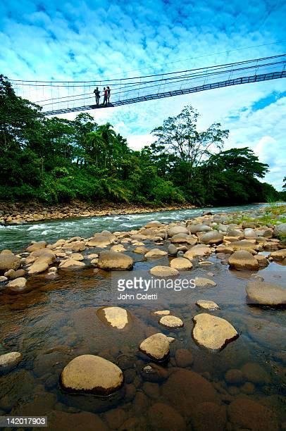 Suspension bridge, Sarapiqui River, Costa Rica