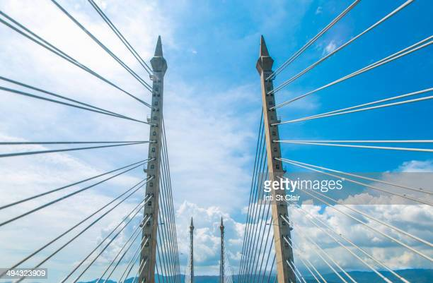 Suspension cables of Penang bridge, George Town, Penang, Malaysia