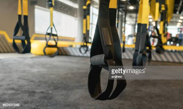 Suspension equipment at the gym