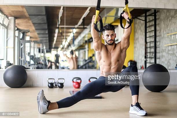 Suspensão de exercício com alças
