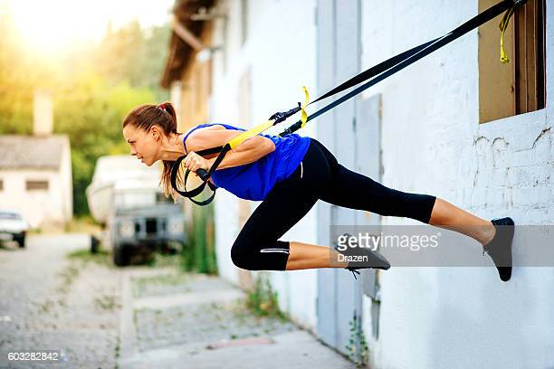 Suspension training for whole body