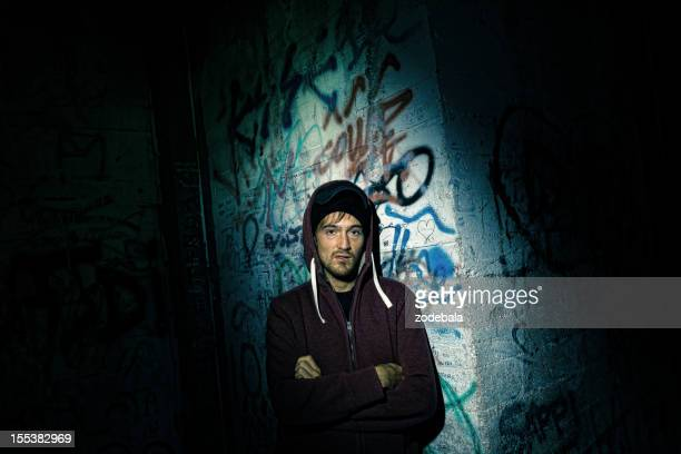 Suspicious Man in the Dark