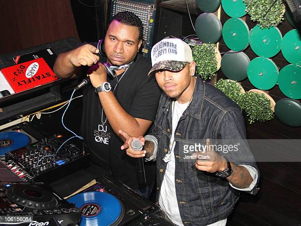 Suss One and Chris Brown attend Ciara's Birthday Celebration at Greenhouse on October 26 2010 in New York City