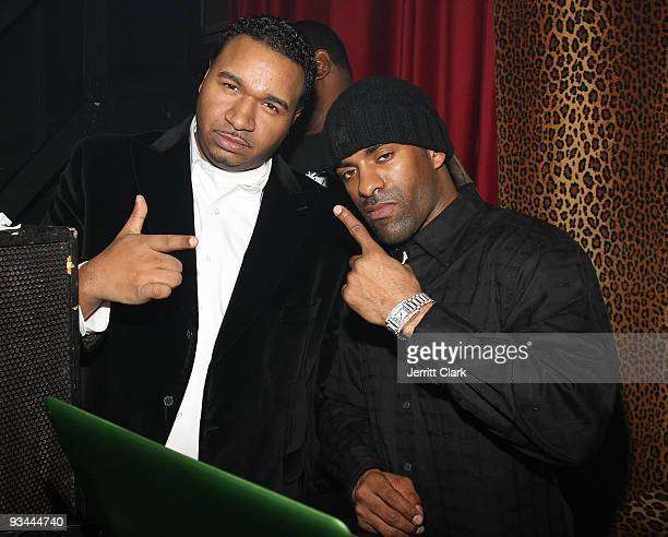 Suss One and DJ Clue attend Trey Songz Birthday celebration at M2 Ultra Lounge on November 25 2009 in New York City