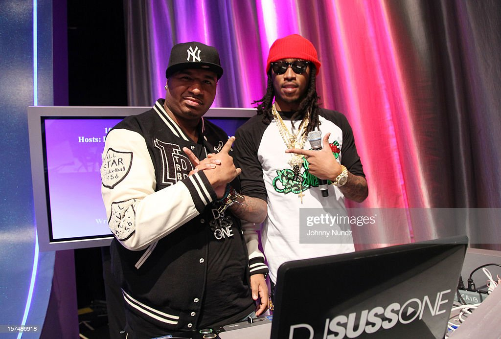 DJ Suss One and Future visit at 106 & Park Studio on December 3, 2012 in New York City.