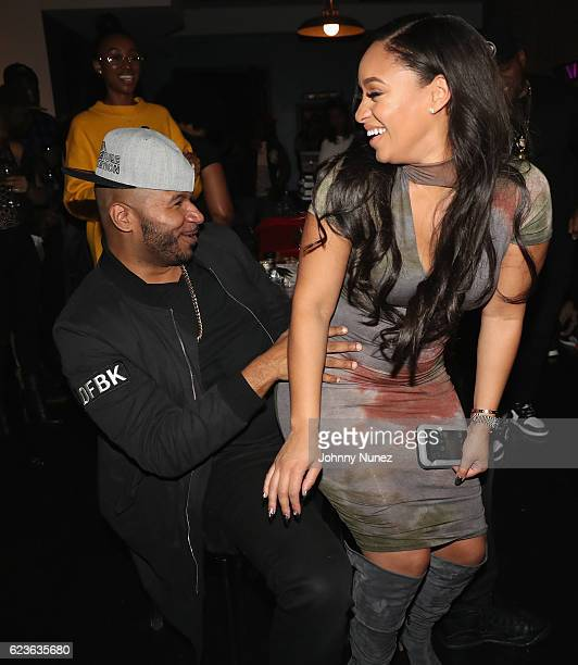Suss One and Tahiry attend DJ Suss One Birthday Celebration at The Loft on November 15 2016 in New York City