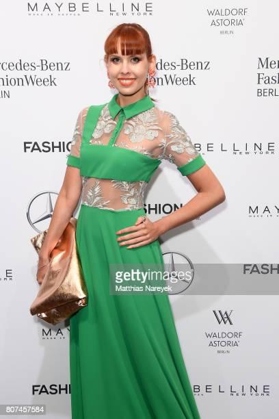 Sussan Zeck attends the Ewa Herzog show during the MercedesBenz Fashion Week Berlin Spring/Summer 2018 at Kaufhaus Jandorf on July 4 2017 in Berlin...