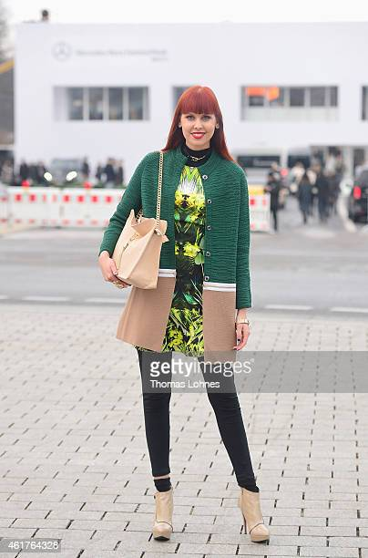 Sussan Zeck of the MercedesBenz Fashion Week Berlin Autumn/Winter 2015/16 at Brandenburg Gate on January 19 2015 in Berlin Germany