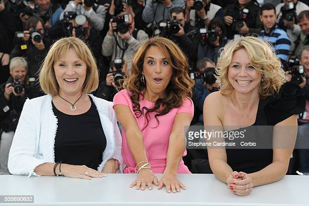 Susse Wold Alexandra Rapaport and Sisse Graum Jorgensen at the photo call for 'Jagten' during the 65th Cannes International Film Festival