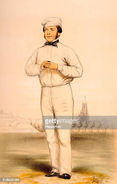 Sussex and England cricketer John Wisden the founding publisher of the Wisden Cricketers' Almanack circa 1864