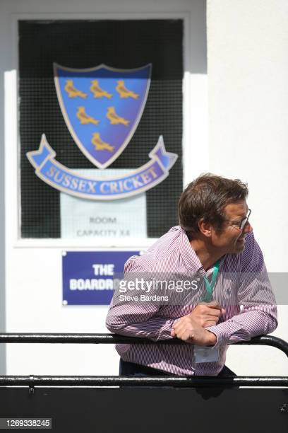 Sussex chief executive, Rob Andrew watches the action during during the Vitality T20 Blast match between Sussex Sharks and Surrey at The 1st Central...